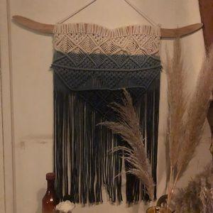 Urban outfitter crochet/macrame wall hanging